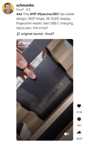 tiktok influencer marketing example
